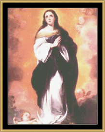 immaculate conception  cross stitch pattern download