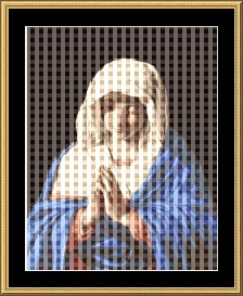 Virgin Praying  Cross Stitch Pattern Download | Crafting | Cross-Stitch | Other