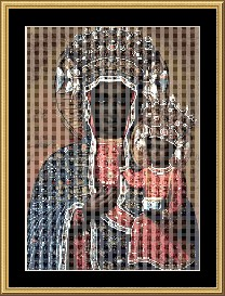 The Black Madonna  Cross Stitch Pattern Download