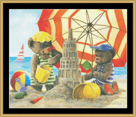 At The Beach Cross Stitch Pattern Download | Crafting | Cross-Stitch | Other