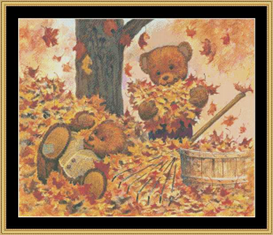 Leaf Pile Cross Stitch Pattern Download | Crafting | Cross-Stitch | Other