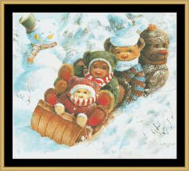 Winter Wonderland Cross Stitch Pattern Download | Crafting | Cross-Stitch | Other