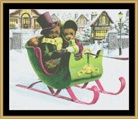 Winter Outing  Cross Stitch Pattern Download | Crafting | Cross-Stitch | Other