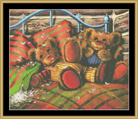 After The Pillow Fightg Cross Stitch Pattern Download | Crafting | Cross-Stitch | Other