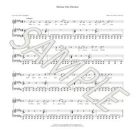 shine on down piano vocal score (4 voices)
