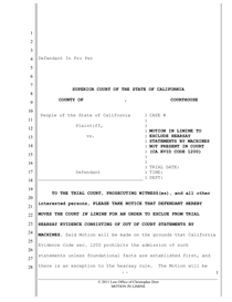 Motion to Suppress (Illegal Stop PC 1538.5)) | Documents and Forms ...