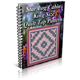 Star Log Cabin King Size Quilt Top Pattern | Other Files | Patterns and Templates