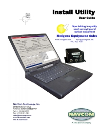 NavCom Install Utility User Guide | Documents and Forms | Manuals