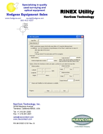 NavCom Rinex User Guide | Documents and Forms | Manuals