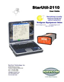 NavCom StarUtil 2110 User Guide | Documents and Forms | Manuals
