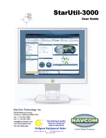 NavCom StarUtil 3000 User Guide | Documents and Forms | Manuals