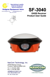 NavCom SF-3040 GNSS Receiver Product User Guide | Documents and Forms | Manuals