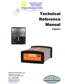 navcom sapphire technical reference manual