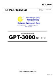 Topcon GPT 3000 Total Station Repair Manual | Documents and Forms | Manuals
