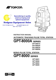Topcon GPT-8000/8000A Series Instruction Manual | Documents and Forms | Manuals