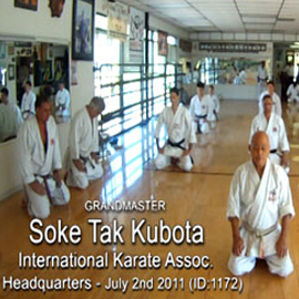 Soke Tak Kubota Karate Class DOWNLOAD | Movies and Videos | Special Interest