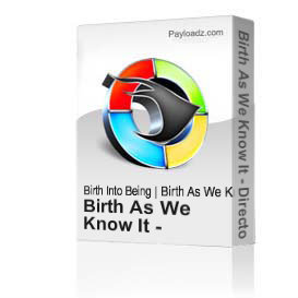 Birth As We Know It - Directors Commentary - Czech - 74min. | Movies and Videos | Educational