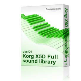Korg X5D Full sound library download | Music | Soundbanks