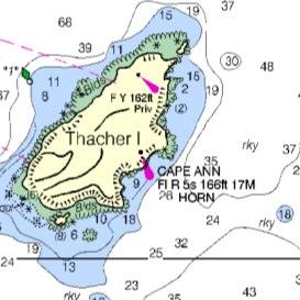 nautical chart: gloucester and rockport, ma.