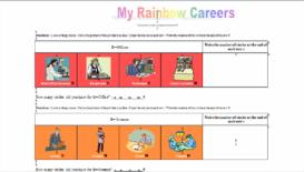 rainbow careers bingo cards