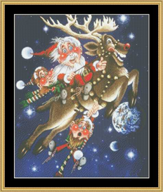 Hi-Ho Rudolph | Crafting | Cross-Stitch | Other