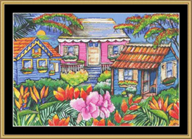 Caribbean Cottages | Crafting | Cross-Stitch | Other