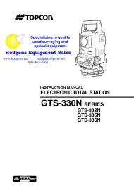 Topcon GTS-330N SERIES ELECTRONIC TOTAL STATION | Documents and Forms | Manuals