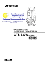Topcon GTS-330W Total Station Instruction Manual | Documents and Forms | Manuals