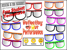 Reflecting on Our Performance Bulletin Board Kit | Other Files | Patterns and Templates