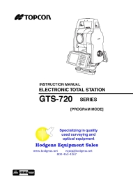 Topcon GTS-720 Series Instruction Manual [Program Mode] | Documents and Forms | Manuals