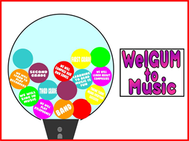 WelGUM to Music Bulletin Board kit | Other Files | Patterns and Templates