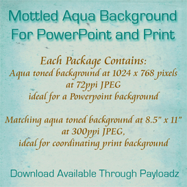 mottled aqua background for powerpoint and print