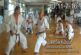 Soke Tak Kubota Karate Class DOWNLOAD ID: 20110716 | Movies and Videos | Special Interest