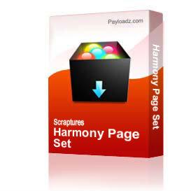 Harmony Page Set | Other Files | Arts and Crafts