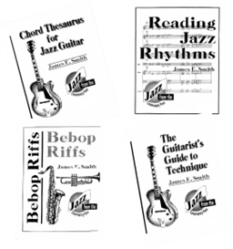 All 4 Books (Reading Jazz Rhythms, Bebop Riffs, Chord Thesaurus for Jazz Guitar, and the Guitar's Guide to Technique) | eBooks | Music