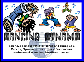 Dancing Dynamo Certificate | Other Files | Patterns and Templates