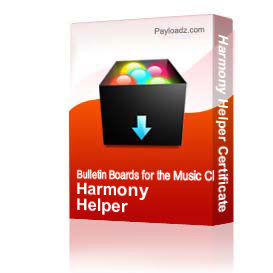 Harmony Helper Certificate | Other Files | Patterns and Templates