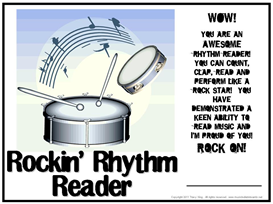 Rockin' Rhythm Reader Certificate | Other Files | Patterns and Templates