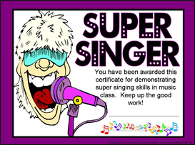 Super Singer Certificate | Other Files | Patterns and Templates