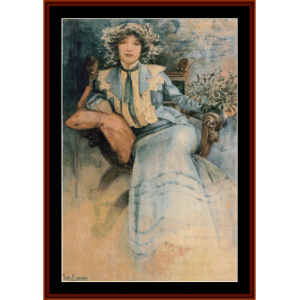 Mme. Mucha cross stitch pattern by Cross Stitch Collectibles | Crafting | Cross-Stitch | Wall Hangings