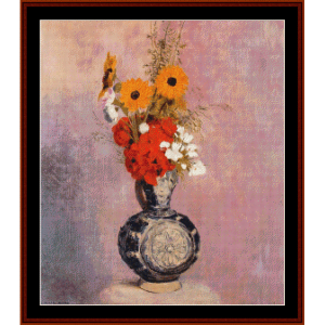 Bouquet of Flowers II - Redon cross stitch pattern by Cross Stitch Collectibles | Crafting | Cross-Stitch | Wall Hangings