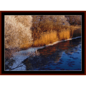 riverside - nature cross stitch pattern by cross stitch collectibles