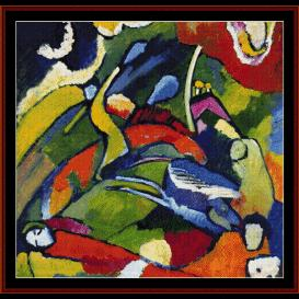 Two Riders & Reclining Figure - Kandinsky cross stitch pattern by Cross Stitch Collectibles | Crafting | Cross-Stitch | Wall Hangings