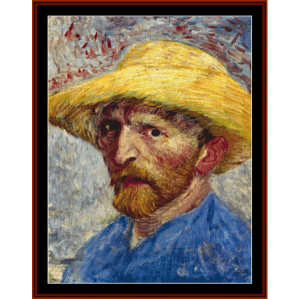 Self Portrait (Van Gogh) cross stitch pattern by Cross Stitch Collectibles | Crafting | Cross-Stitch | Wall Hangings