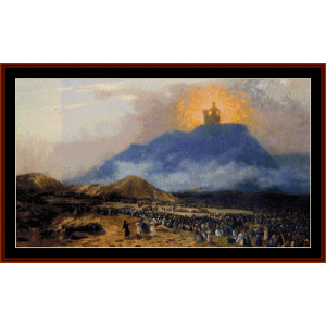 moses on the mount - gerome cross stitch pattern by cross stitch collectibles
