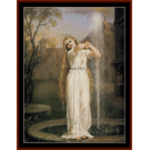 Undine - Waterhouse cross stitch pattern by Cross Stitch Collectibles | Crafting | Cross-Stitch | Wall Hangings