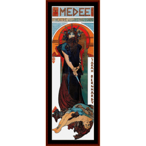 Medee - Mucha cross stitch pattern by Cross Stitch Collectibles | Crafting | Cross-Stitch | Wall Hangings
