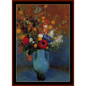 Bouquet of Wildflowers - Redon cross stitch pattern by Cross Stitch Collectibles | Crafting | Cross-Stitch | Wall Hangings