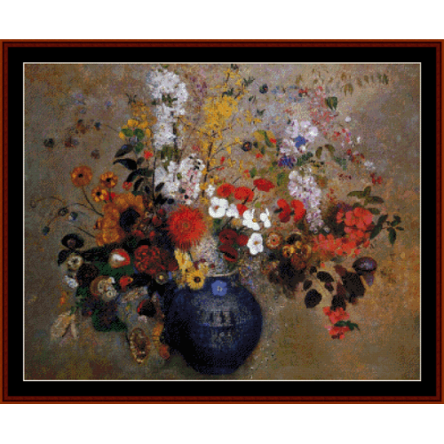 First Additional product image for - Flowers, 1909 - Redon cross stitch pattern download