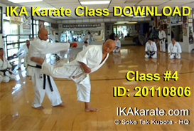 Download the Training Movies and Videos | Soke Tak Kubota Video Karate Class #4 DOWNLOAD